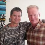 Author with Biff