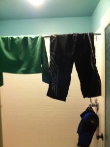 Etc Guy hockey gear hanging