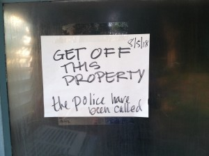 get off property police notified