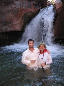 Grand Canyon waterfall E Miller
