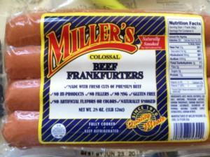 etcguy Millers collosal beef frankfurters