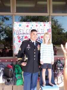 Sgt. Alvarez with Maggie