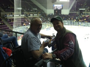 Beer and hockey with Dad